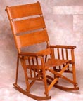 Folding Raw Hide Rocking Chair, $199